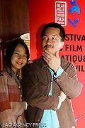 """L'actrice Kim Kkobbi de """"Breathless"""" et le réalisateur Yang Ik-June."""