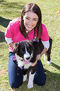 Border Collie Fun Day, Sydney, Australia-6 Jul 2014 Celebrity Vet Dr Katrina is one of the event organisers and funds raised from the day will go to border collie cancer research at Sydney University. Dr Katrina Warren with puppy Ollie.