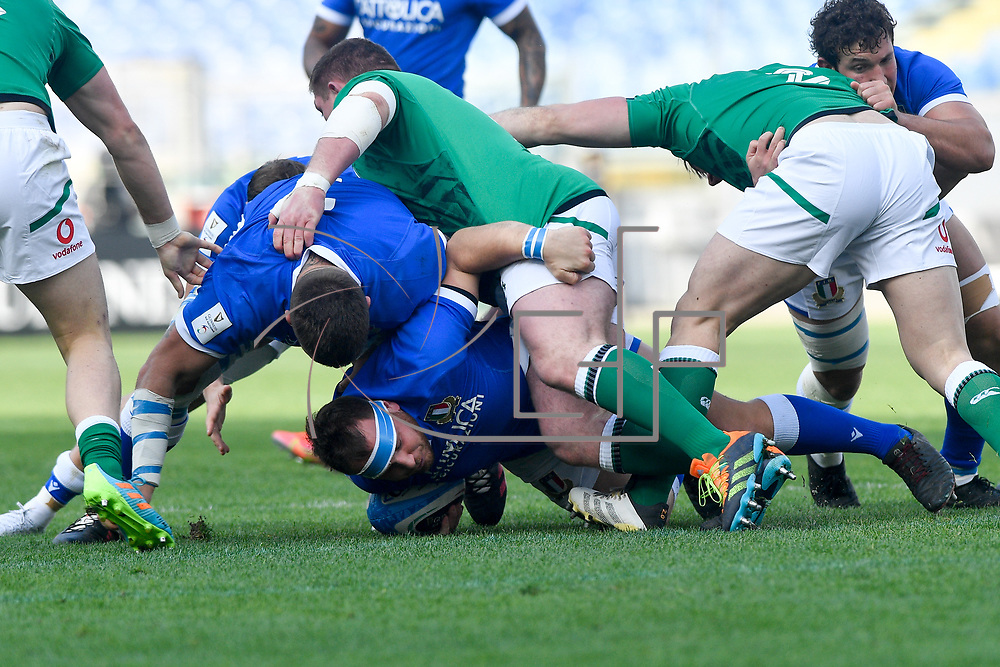 Roma 27/02/2021, Stadio Olimpico<br /> Guinness Six Nations 2021<br /> Italia vs Irlanda <br /> <br /> Andrea Lovotti