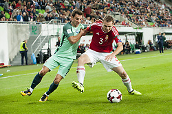 September 3, 2017 - Budapest, Hungary - Bruno Alver of Portugal and Mihaly Korhut of Hungary during the FIFA World Cup 2018 Qualifying Round match between Hungary and Portugal at Groupama Arena in Budapest, Hungary on September 3, 2017  (Credit Image: © Andrew Surma/NurPhoto via ZUMA Press)