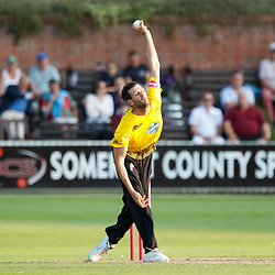 Gloucestershire's Tom Payne<br /> <br /> Photographer Simon King/Replay Images<br /> <br /> Vitality Blast T20 - Round 1 - Somerset v Gloucestershire - Friday 6th July 2018 - Cooper Associates County Ground - Taunton<br /> <br /> World Copyright © Replay Images . All rights reserved. info@replayimages.co.uk - http://replayimages.co.uk