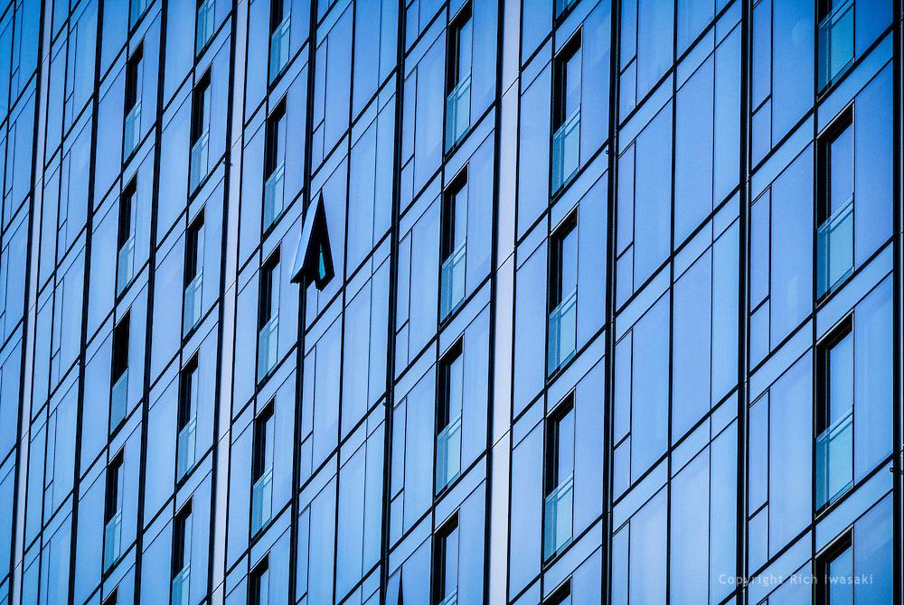 Architectural detail of Zimmer Gunsal Frasca building, Portland, Oregon