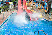 Israel, Sfaim water Park, summer fun on water slides