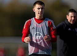CARDIFF, WALES - Wednesday, October 7, 2020: Wales' Ben Woodburn during a training session at the Vale Resort ahead of the International Friendly match against England. (Pic by David Rawcliffe/Propaganda)