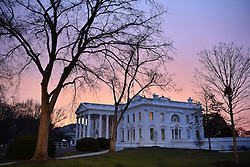 Dawn breaks behind the White House as the nation prepares for the inauguration of President-elect Donald Trump on January 20, 2017 in Washington, D.C. Trump becomes the 45th President of the United States. Photo by Kevin Dietsch/UPI