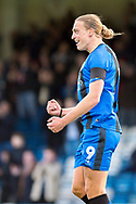 Gillingham FC forward Tom Eaves (9) scores a goal (2-0) and celebrates during the EFL Sky Bet League 1 match between Gillingham and Fleetwood Town at the MEMS Priestfield Stadium, Gillingham, England on 3 November 2018.<br /> Photo Martin Cole