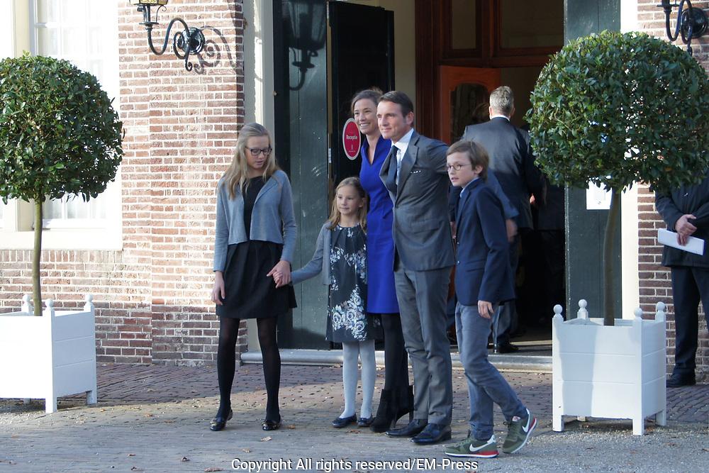 Doop Willem Jan ( 01-07-2013), zoon van Prins Floris en Prinses Aimee oppaleis het Loo<br /> <br /> Christening of Willem Jan ( 01-07-2013), son of Prince Floris and Princess Aimee on palace het Loo<br /> <br /> Op de foto / On the photo: Prince Maurits, Princess Marilene and Anna, Lucas and Felicia van Lippe-Biesterfeld van Vollenhoven