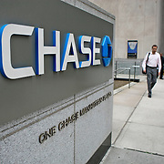 USA/New York/20090910 - Chase manhattan bank midden in het finaciele district in New York, vlakbij Wall Street