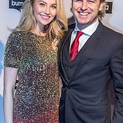 NLD/Hilversum//20170306 - uitreiking Buma Awards 2017, John Ewbank en partner Kelly Weekers