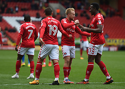 Charlton Athletic's Ben Reeves celebrates scoring their first goal