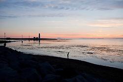 Sunset at the beach in Grotta, Iceland - sólsetur við Gróttu
