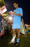 Photograph: Scott Heavey.<br />Stevenage Borough V Tottenham Hotspur. Pre-season friendly. 16/07/2003.<br />Kazuyuki Toda signs autographs.