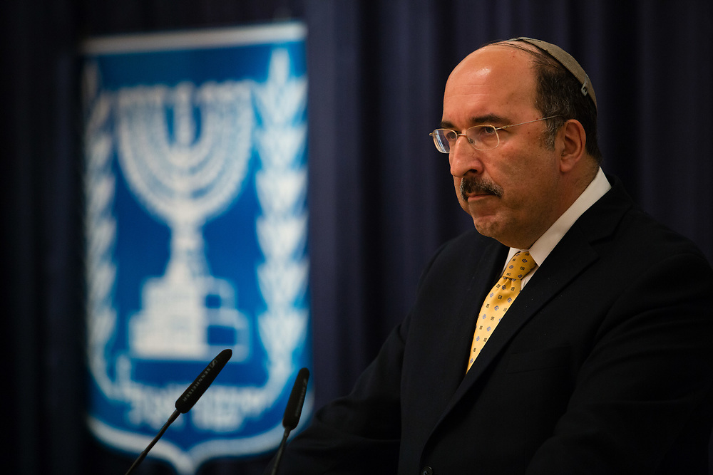 Director-General of the Israeli Ministry of Foreign Affairs, Dore Gold, at the Ministry of Foreign Affairs in Jerusalem, Israel, on June 9, 2015.