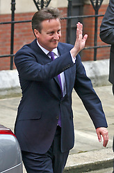 © Licensed to London News Pictures. 14/06/2012. London,Britain.Prime minister David Cameron leaves the Leveson Inquiry in the Royal Courts of Justice. Photo credit : Thomas Campean/LNP..