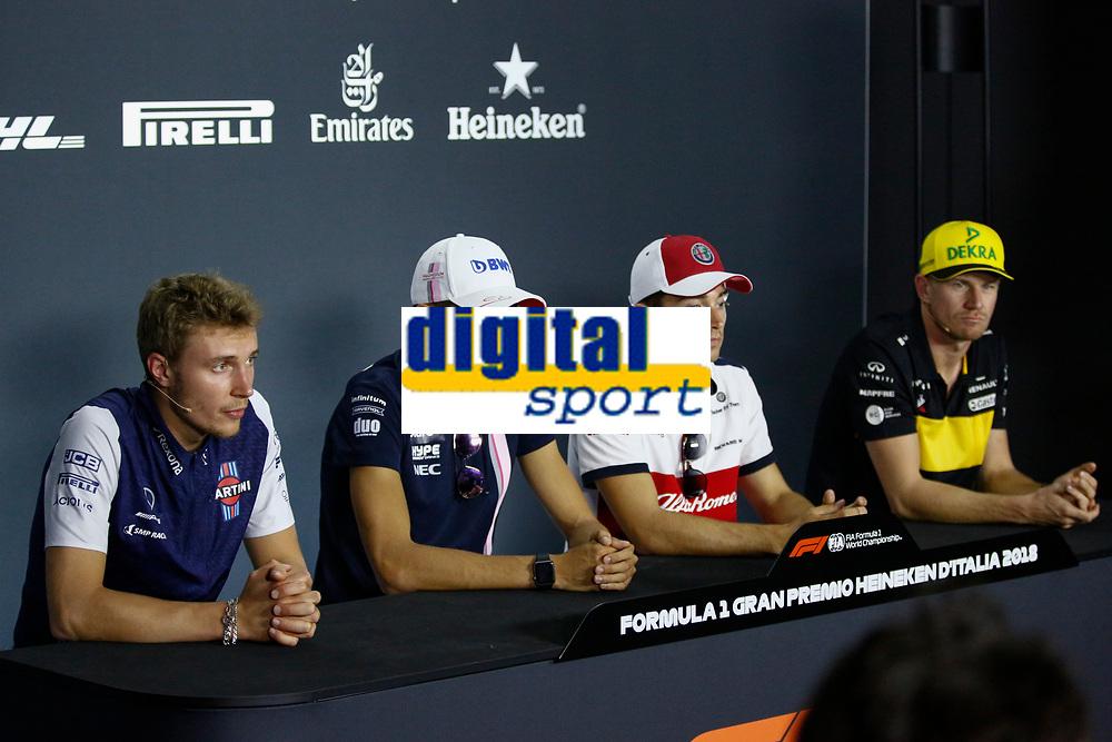 Media press conference Sirotkin,Ocon, Leclerc, Hulkemberg<br /> Monza 30-08-2018 GP Italia <br /> Formula 1 Championship 2018 <br /> Foto Federico Basile / Insidefoto