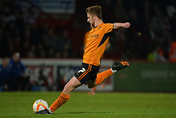 Wolves midfielder Michael Jacobs takes a shot at goal  - Photo mandatory by-line: Mitchell Gunn/JMP - Tel: Mobile: 07966 386802 01/04/2014 - SPORT - FOOTBALL - Broadhall Way - Stevenage - Stevenage v Wolverhampton Wanderers - League One