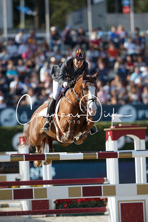 Cordon Pilar, (ESP), Gribouille du Lys <br /> First Round<br /> Furusiyya FEI Nations Cup Jumping Final - Barcelona 2015<br /> © Dirk Caremans<br /> 24/09/15
