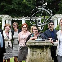 Nederland, Heemstede, 10 juni 2014.<br /> Het bestuur van het Linnaeusinstituut<br /> Foto:Jean-Pierre Jans