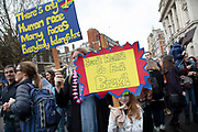 Put It To The People march for a Peoples Vote on 23rd March 2019 in London, United Kingdom. With less than one week until the UK is supposed to be leaving the European Union, the final result still hangs in the balance and protesters gathered in their tens of thousands to make political leaders take notice and to give the British public a vote on the final Brexit deal, with the aim to revoke Article 50.
