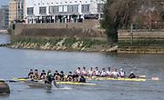 Putney, Great Britain, 23rd March 2019, Pre Boat Race Fixture, Oxford University  Boat Club vs Leander Club, Championship Course, River Thames,   England, [Mandatory Credit; Peter Spurrier/Intersport-images], Crew OUBC.<br /> Stroke: Felix Drinkall<br /> 7. Charlie Pearson<br /> 6. Augustin Wambersie<br /> 5. Tobias Schroder<br /> 4. Ben Landis<br /> 3. Achim Harzheim<br /> 2. Patrick Sullivan<br /> Bow. Charlie Buchanan<br /> Cox. Toby De Mendonca
