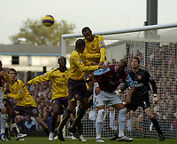 Photo: Olly Greenwood.<br />West Ham United v Arsenal. The Barclays Premiership. 05/11/2006. Arsenal's Thierry Henry heads clear