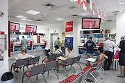 Israel Postal Company, post office interior, Tel Aviv, Israel