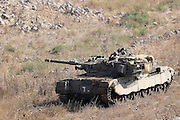 Golan Heights, Israel, Israeli Merkava tank