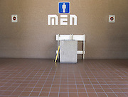 men?s toilet at a rest stop facility USA