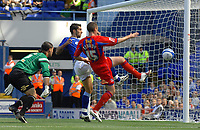 Photo: Ashley Pickering.<br /> Ipswich Town v Crystal Palace. Coca Cola Championship. 26/08/2007.<br /> Pablo Counago of Ipswich (blue) goes close with this effort in the first half