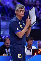 Brazil coach, Renan Dal Zotto<br /> Torino 29-09-2018 Pala Alpitour <br /> FIVB Volleyball Men's World Championship <br /> Pallavolo Campionati del Mondo Uomini <br /> Semifinal<br /> Brasile - Serbia / Brazil - Serbia<br /> Foto Antonietta Baldassarre / Insidefoto