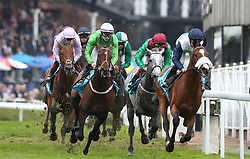 Runners and riders during The MBNA Chester Vase Stakes, during Boodles City Day at Chester Racecourse, Chester