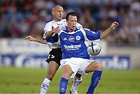 Fotball<br /> Frankrike 2004/05<br /> Strasbourg v Istres<br /> 28. august 2004<br /> Foto: Digitalsport<br /> NORWAY ONLY<br /> ALEXANDER FARNERUD (STR) / LAURENT COURTOIS (IST)