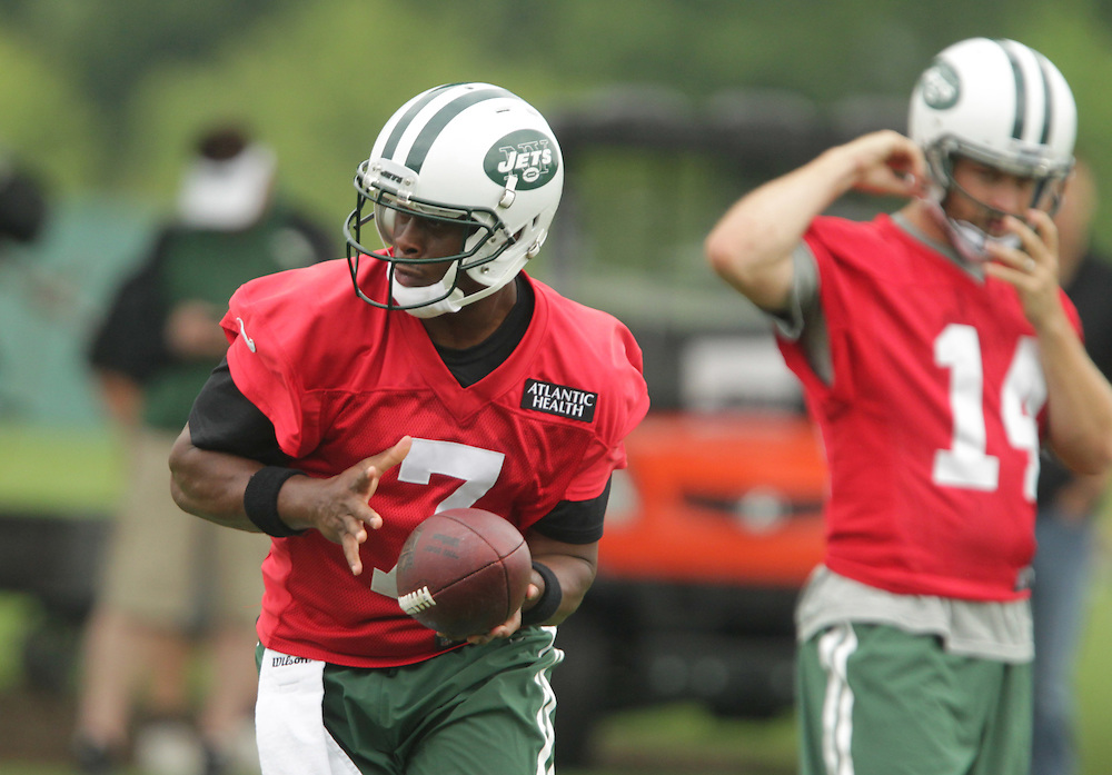 Jets Geno Smith during the Jets OTA workouts at the team's training facility in Florham Park, NJ.  5/27/15 Photo by John O'Boyle for the New York Post