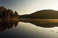 Early morning light on the Proscansko lake, near Ljeskovac village, Upper Lakes, Plitvice National Park, Croatia