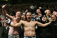 Photo: Andrew Unwin.<br />Newcastle United v Tottenham Hotspur. The Barclays Premiership. 23/12/2006.<br />Newcastle fans go shirtless despite the cold weather.