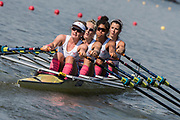 Plovdiv BULGARIA. 2017 FISA. Rowing World U23 Championships. <br /> GBR BW4X, Bow. THORNTON, Anna, EDWARDS, Kyra, BUDGETT, Saska and GLOVER, Lucy.<br /> Wednesday. PM,  Heats 17:12:33  Wednesday  19.07.17   <br /> <br /> [Mandatory Credit. Peter SPURRIER/Intersport Images].