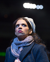 © London News Pictures. Jessica Rose Cambio as Mimi performing in Puccini's tragic opera La Boheme at The Royal Albert Hall, London on February 26, 2014.   Photo credit: Arnaud Stephenson/LNP