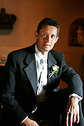 Hispanic Male in Tuxedo On His Wedding Day