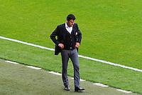 Hubert FOURNIER - 02.05.2015 - Lyon / Evian Thonon - 35eme journee de Ligue 1<br />Photo : Jean Paul Thomas / Icon Sport