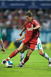 Grenchen, Switzerland - Tuesday, July 17, 2007: Liverpool's Fernando Torres in action against SV Werder Bremen during a pre-season friendly at Stadion Bruhl. (Photo by David Rawcliffe/Propaganda)