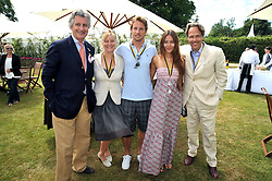 Left to right, ARNAUD BAMBERGER, the COUNTESS OF MARCH, JENSON BUTTON, JESSICA MICHIBATA and the EARL OF MARCH at a luncheon hosted by Cartier for their sponsorship of the Style et Luxe part of the Goodwood Festival of Speed at Goodwood House, West Sussex on 5th July 2009.