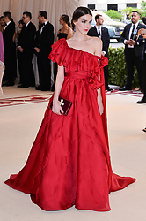 Bee Shaffer walking the red carpet at The Metropolitan Museum of Art Costume Institute Benefit celebrating the opening of Heavenly Bodies : Fashion and the Catholic Imagination held at The Metropolitan Museum of Art  in New York, NY, on May 7, 2018. (Photo by Anthony Behar/Sipa USA)