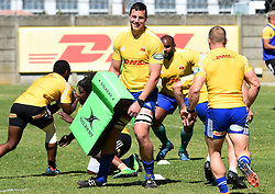 Cape Town-180911- Western Province player JD Schickerling practising some tackles during a training session at the Bellville HPC .Photographs:Phando Jikelo/African News Agency/ANA