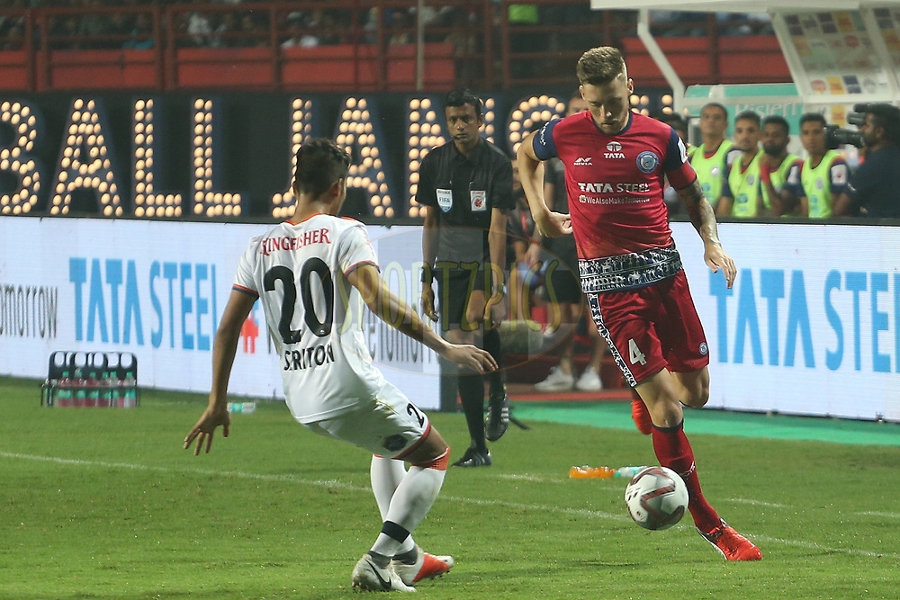Jose Luis Espinosa captain of Jamshedpur FC during match 25 of the Hero Indian Super League 2018 ( ISL ) between Jamshedpur FC and FC Goa held at JRD Tata Sports Complex, Jamshedpur, India on the 1st November  2018<br /> <br /> Photo by: Ron Gaunt /SPORTZPICS for ISL