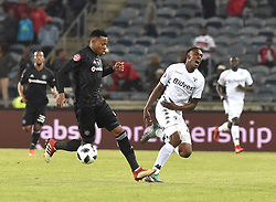 South Africa: Gauteng: Orlando Pirates player Happy Jele and Bidvest Wits Mxolisi Macuphu battle for the ball during the Absa Premiership at orlando stadium, Johannesburg.<br />Picture: Itumeleng English/African News Agency (ANA)