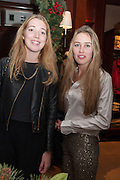 ANGELICA HICKS; MADDISON MAY BRUDENELL; , Book launch for ' Daughter of Empire - Life as a Mountbatten' by Lady Pamela Hicks. Ralph Lauren, 1 New Bond St. London. 12 November 2012.