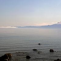 South America, Chile, Puerto Varas. Osorno Volcano and Llanquihue Lake, Puerto Varas.