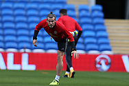 Gareth Bale of Wales (c) in action during the Wales football team training at the Cardiff city Stadium in Cardiff , South Wales on Friday 1st September 2017.  the team are preparing for their FIFA World Cup qualifier home to Austria tomorrow.  pic by Andrew Orchard, Andrew Orchard sports photography