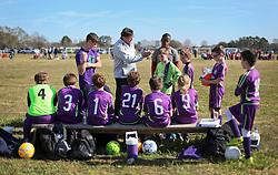 24 January 2016. Houma, Louisiana. <br /> New Orleans Jesters Youth Academy U11 Purple vs Houma Blackhawks. Jesters win 4-0 <br /> Photo©; Charlie Varley/varleypix.com