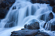 Close-up of waterfall cascading over rocks